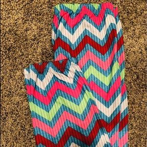 Justice Bright Chevron Pj's Pants. Nice Condition